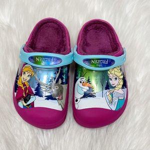 Crocs Disney Frozen Clogs Pink Fur Lined